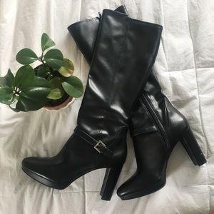 NINE WEST // knee high black boots